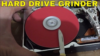 how to make a HardDrive Grinder from broken computer