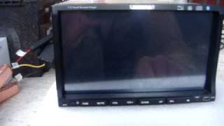 Double din touch screen not working