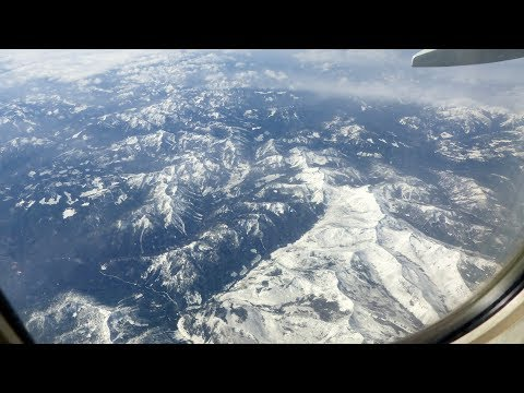 OUR FLIGHT - OVERVIEW OF CANADIAN ROCKIES AND VANCOUVER