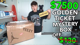 I Bought A GOLDEN TICKET Sneaker Mystery Box and Won $7500 Sneakers