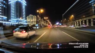Видеорегистратор Samoon B47 Баку Ночь 1296Р + WDR без CPL фильтра