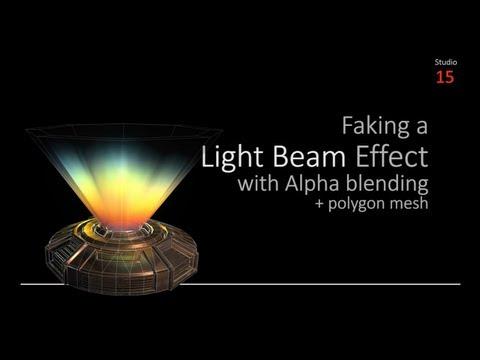 Texturing a Light Beam Effect with Alpha Blending