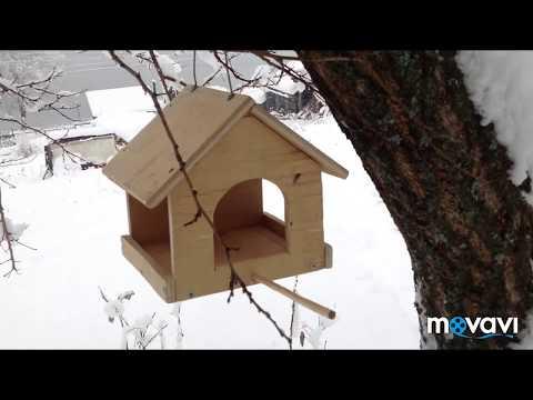 Как сделать из дерева кормушку для птиц своими руками
