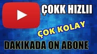 Youtube Abone Kasma (1 dakika da 10 abone kesin!) canlı yayın
