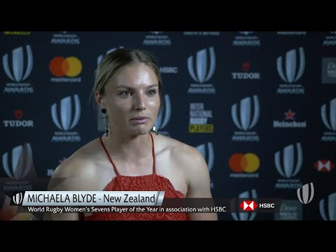 Reaction from World Rugby Women's Sevens Player of the Year Michaela Blyde