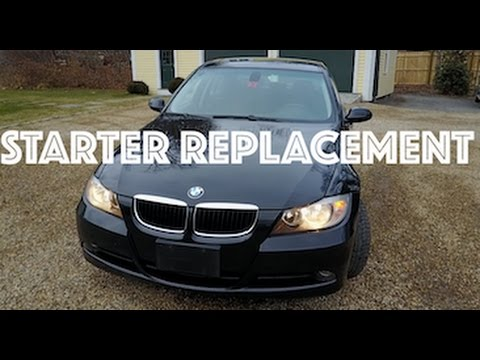 BMW 328i Starter Replacement   SHORTCUT!! - YouTube