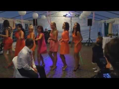 Видео: Свадьба Анюты и Володи 23.08.2014, подарок от подружек, wedding