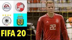 FIFA 20: Deutschland v Argentinien l [TESTSPIEL 2020] Prognose [FULL HD]