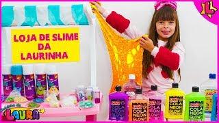 Helena estragou o Slime da Laurinha - Pretend Play Mixing Slime To Make Satisfying Color Slimes