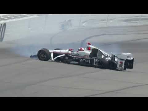 Helio Castroneves Incident At Pocono Raceway