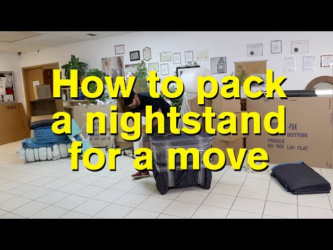 How To Pack A Nightstand For Moving