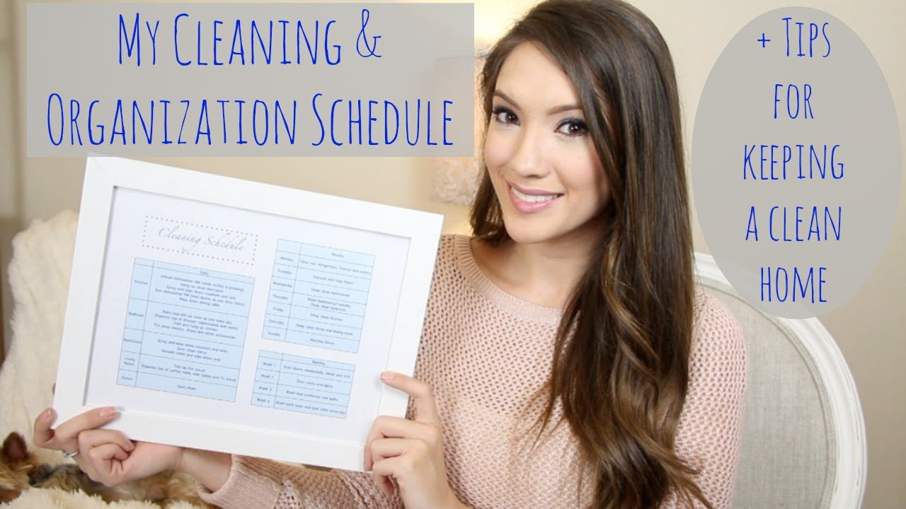 My Cleaning & Organization Schedule + Tips For A Clean