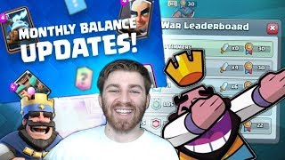 HUGE NEWS FOR CLASH ROYALE!! NEW MONTHLY UPDATE BALANCE CHANGES!