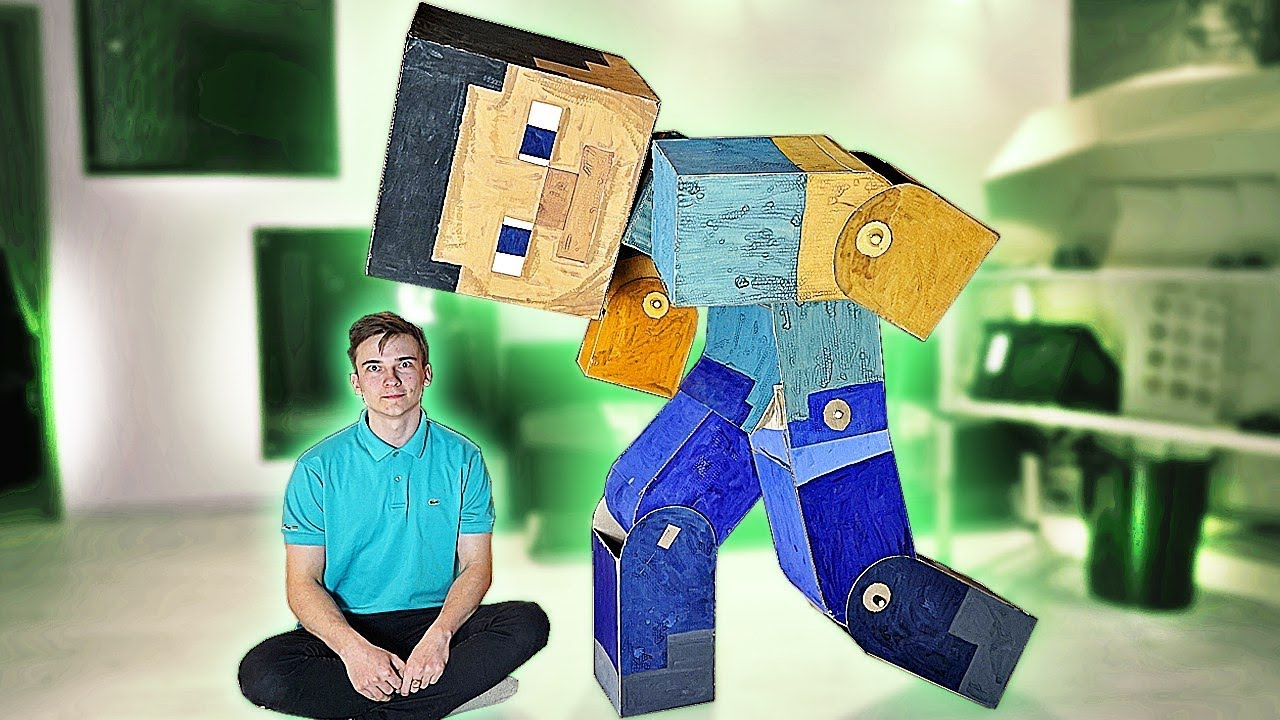 Steve From Minecraft In Real Life Youtube