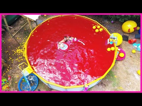 Thumbnail: SWIMMING IN A FAMILY SIZE POOL OF KOOL AID?!