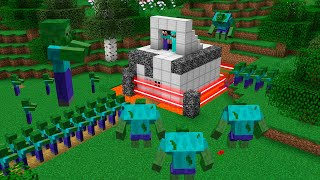 NOOB PROTECTS THE SUPER HOUSE BASE FROM THE ZOMBIE APOCALYPSE MINECRAFT NOOB VS PRO BATTLE