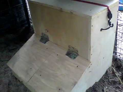 Diy Hog Feeder Two Door Gravity Fed Continuous Youtube
