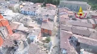 Melihat Kerusakan Gempa 6,2 SR Di Italia Lewat Kamera Drone