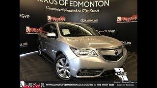 Silver 2015 Acura MDX Elite Pkg Review Edmonton Alberta - Lexus of Edmonton