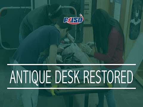 Antique student desk discovered and restored