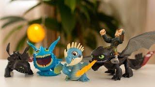 Драконы и Всадники Олуха! МНОГО ИГРУШЕК Беззубик и Другие Драконы, Распаковка! Lots of Dragons Toys