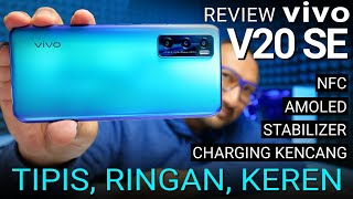 Tipis, Ringan, NFC, AMOLED: Review vivo V20 SE Aquamarine Green