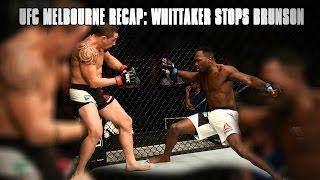 UFC Fight Night Melbourne Recap: Robert Whittaker Stops Derek Brunson