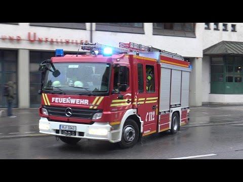 [Taxi zwingt Feuerwehr zu Vollbremsung] HLF BF München FW 3 Westend