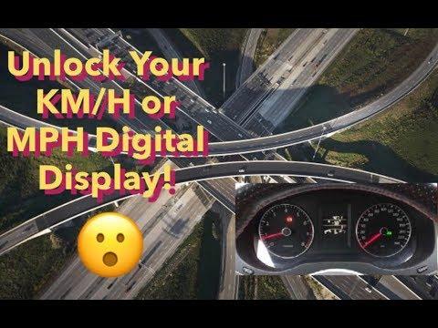 2011-2014 MK6 Jetta Hidden KM/H or MPH Digital Display In Dash Instrument Cluster Panel