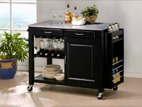 black granite top kitchen island baxton studio black modern kitchen island with 7877
