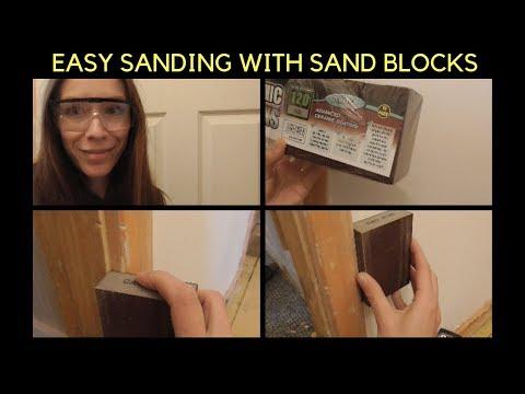 SANDING WOOD WITH CERAMIC SANDING BLOCKS - EASY DIY HACK