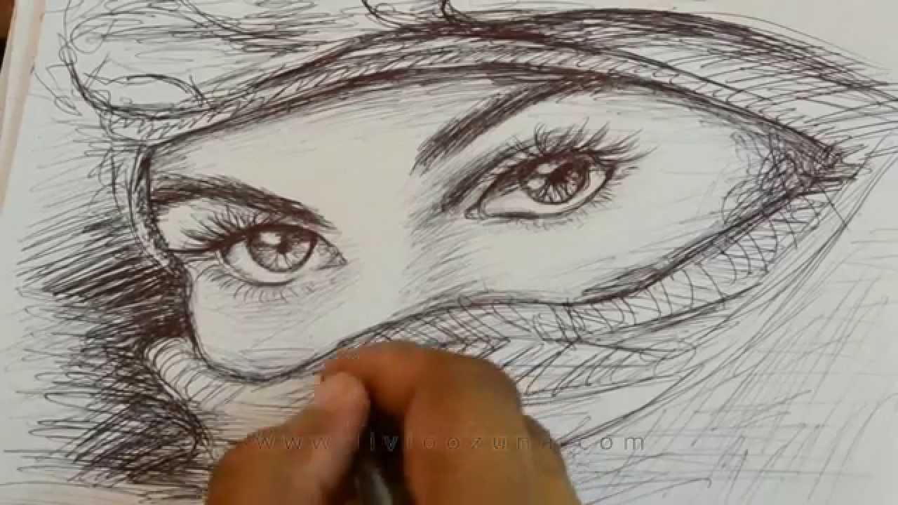 Dibujo De Ojos Femeninos