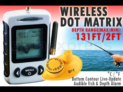 Wireless Fish Finder 40M Depth Range with 100M wireless range and Fish Alarm (www.gainexpress.com)