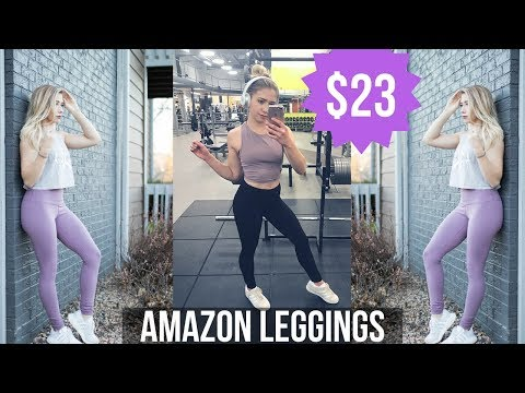 CHEAP AMAZON LEGGINGS | 90 Degree by Reflex Review