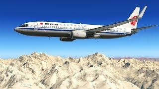 Beautiful Flight Past Mount Everest - X-Plane 11