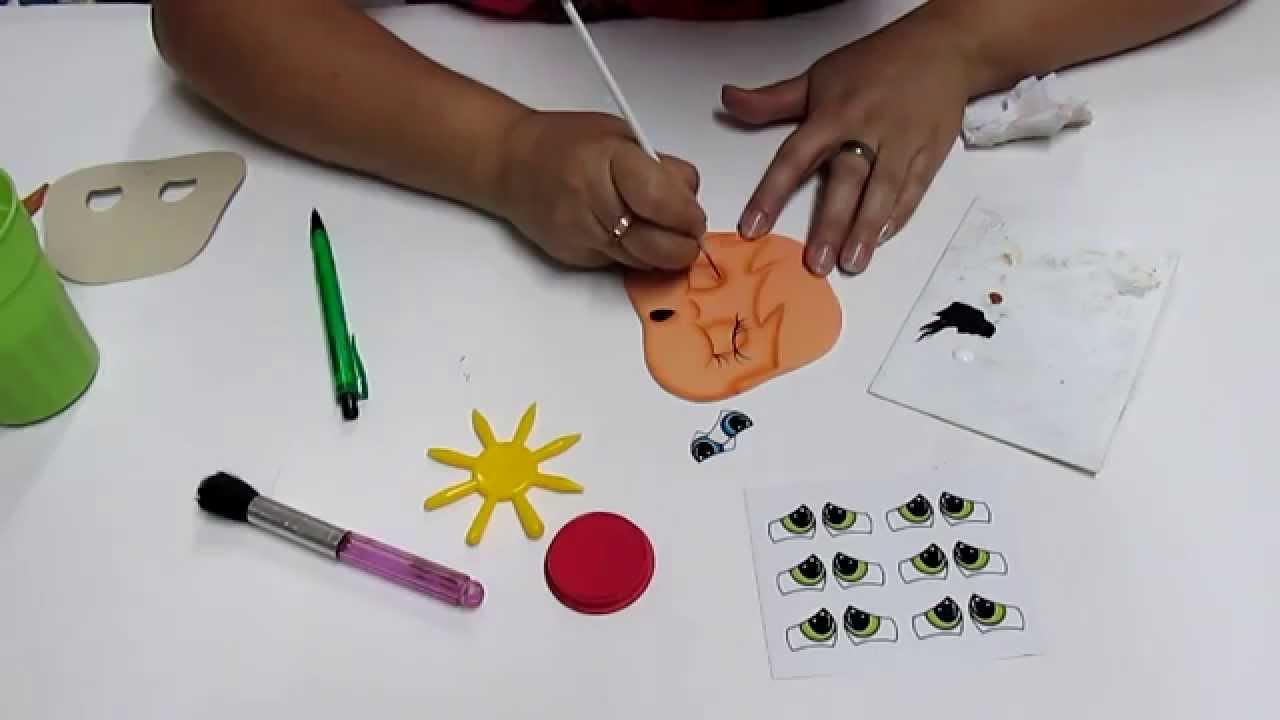 Diy como pintar caritas en foami goma eva microporoso - Pinturas para goma eva ...