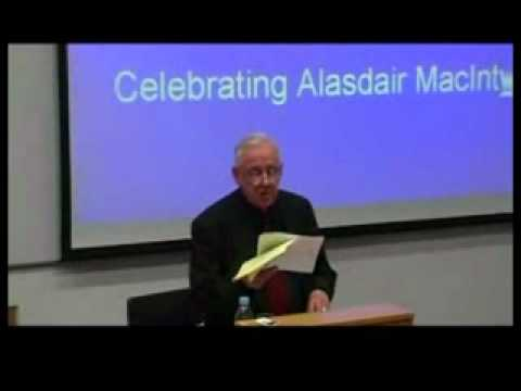 Alasdair MacIntyre: On Having Survived Academic Moral Philosophy (2 of 4)