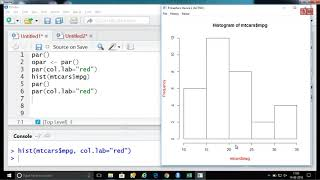 Statistics using R programming 14-08-2018