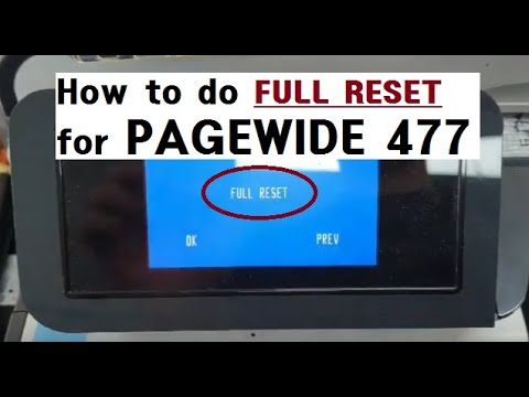 FULL RESET FOR PAGEWIDE 477