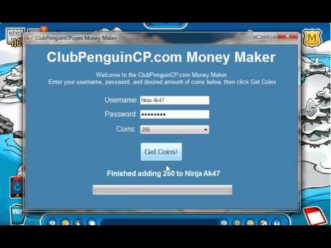 clubpenguin hq how to fix money maker