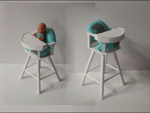 How to make a Doll Baby Feeding High Chair