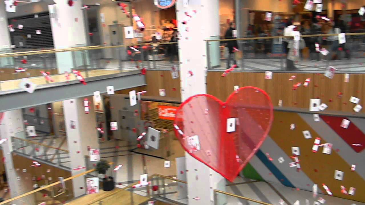 Decorations For Valentines Day In Grand Mall Varna Bulgaria My Trip To Varna YouTube