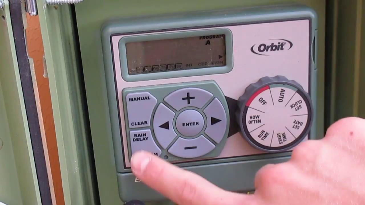 how to program an orbit sprinkler timer youtube rh youtube com Orbit 4 Station Timer Manual Orbit Hose Timer Manual 56417