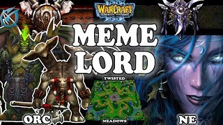 Grubby | Warcraft 3 TFT | 1.30 | ORC v NE on Twisted Meadows - Meme Lord