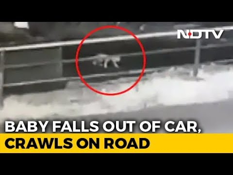 Watch: Baby Crawls On Kerala Road After Falling Off SUV As Parents Doze Off