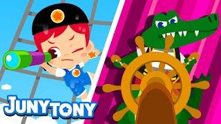 Pirate Adventure | Adventure Songs for Kids | Preschool Songs | JunyTony