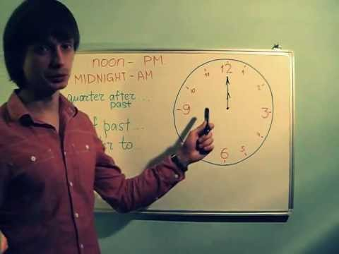 Урок английского языка, What time is it? ;)