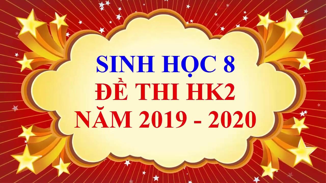 Sinh học lớp 8 – Đề thi HK2 năm học 2019 – 2020