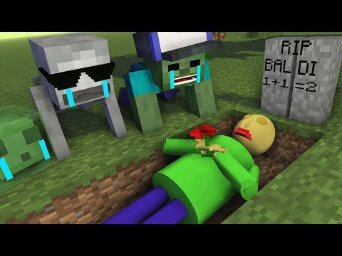 Monster School : RIP BALDI'S - Minecraft Animation thumbnail