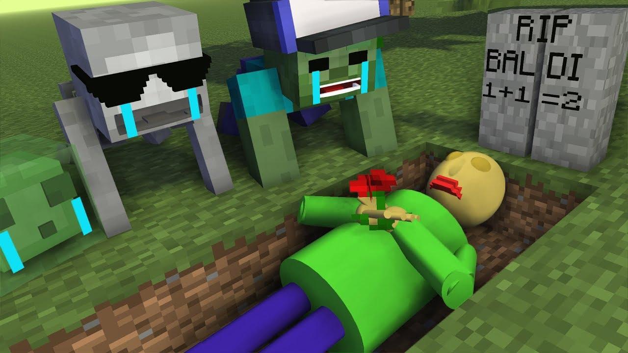 Monster School : RIP BALDI'S - Minecraft Animation - YouTube